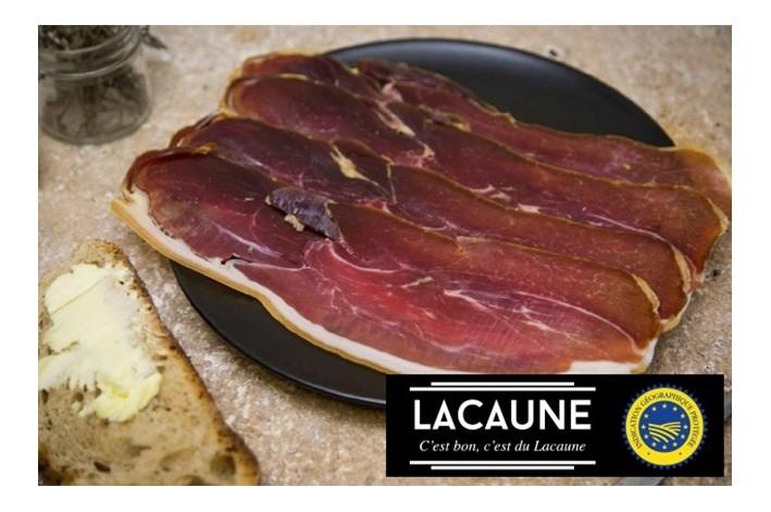 Jambon sec 4 tranches démarche  IGP Lacaune