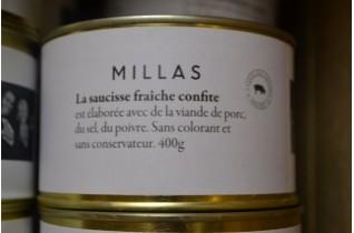 Saucisse fraîche confite - 400g
