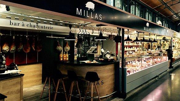 photo de la loge Millas au marché couvert d'Albi